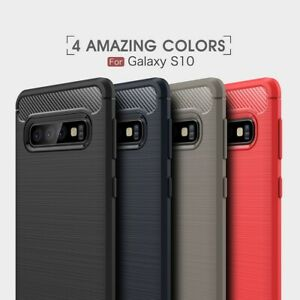 Samsung Galaxy S10 Cover Hülle Schutzhülle TPU Case ✔️CARBON DESIGN ✔️QUALITÄT