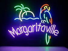 """Brand New Margaritaville Parrot Logo Banner Beer Bar Pub Neon Light Sign 17""""x14"""""""
