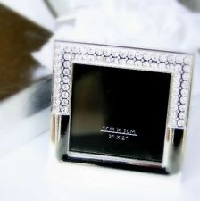 Silvertown Collection Elegant Silver Finished Jewelled Frame 2x2