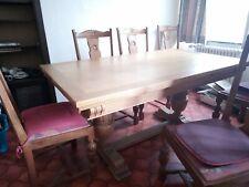 salle à manger chêne à donner ( buffet -table et chaises 6 personnes )