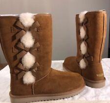 Koolaburra by UGG Women's Victoria Tall Fashion Boot Chestnut Sz 6 1015875 New