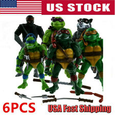 6Pcs/Set Teenage Mutant Ninja Turtles 2nd Action Figures Classic Collection Toys