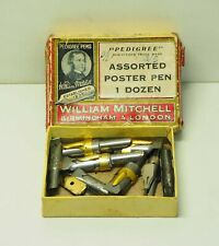 Vintage Used William Mitchell  Poster Nibs in original box 11 nibs in total