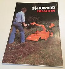 HOWARD Rotavator Dragon 2 Wheeled Tractor Original 1980 Vintage Sales Brochure