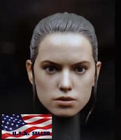 """1/6 Daisy Ridley Star Wars Rey Head Sculpt For 12"""" Hot Toys PHICEN Female Figure"""