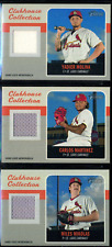 (3) Cardinals 2019 Topps Heritage Clubhouse Collection Relics Yadier Molina LOT