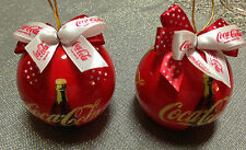 2 COCA-COLA COLLECTION CHRISTMAS  ORNAMENTS