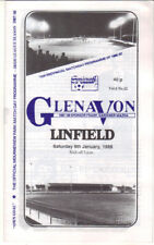 1987/88 Glenavon v Linfield - Irish League - 9th Jan - Vol 6 No 12