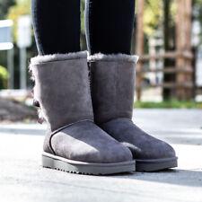 UGG Australia Bailey Bow II Grey Womens BOOTS EUR 39
