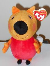 Ty Beanie Baby ~ FREDDY FOX ~ PEPPA PIG (UK Exclusive) 2018 NEW ~ IN HAND (USA)