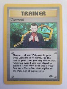 Carte à jouer Pokémon Giovanni Gym Heroes américaine Mint