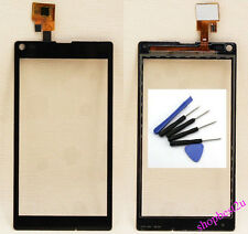 Front Touch Screen Digitizer Glass For Sony Xperia L S36h C2104 C2105 Black Tool