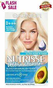 Garnier Nutrisse Creme/Ultra Color Hair Dye Bleach Ultra Blond Maximum Lightener