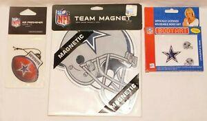 "Dallas Cowboys NFL lot 9"" heavy Magnet Air Freshner reuse Jeweled Body Art NIP"