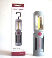 COB LED MINI Akkulampe Handlampe Arbeitslampe Taschenlampe KRAFTWERK 32069 Haken