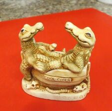 Harmony Kingdom 1997 Croc Pot Box Figural made in England