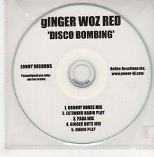 (GO888) Ginger Woz Red, Disco Bombing - DJ CD