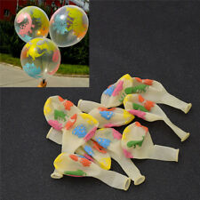 10 Pcs Transparent Balloons Lovely Dinosaur Printed for Home Party Ornament