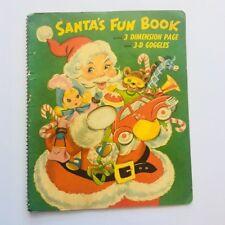 Vintage 1950s Children CHRISTMAS Picture POP UP SANTA CLAUS BOOK 3d Glasses