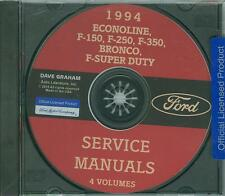 1994  FORD TRUCK SHOP  MANUAL ON CD-BRONCO, ECONOLINE, F-SERIES, F-SUPER DUTY