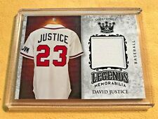 2018 Sage Sportkings Volume 1 DAVID JUSTICE Legends GAME WORN JERSEY Braves