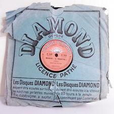 78T 80T SAPHIR Disque Phono DIAMOND MISERERE Verdi Solo Piston TANCREDI Rossini
