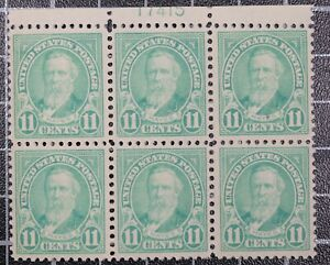 Scott 563 11 Cents Hayes MNH Plate Block Of 6 Plate # 17415 SCV $70.00