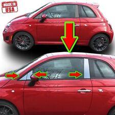 Chrome Pillar Trim for Fiat 500 10-20 6pc Set Door Cover Mirrored Window Post