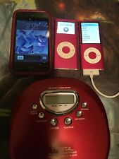 Lot of 3 Apple iPod touch (4th Gen) 8gb MP3 Player, 5th Gen And CD Player