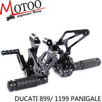 CNC Rearset Rear Set Footrest Peg Pedal For DUCATI 899 1199 PANIGALE 2012-2015