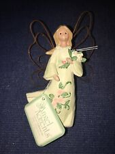 Nwt Roman Angel Accents Birth Month Flower Ornament: June Pink Rose