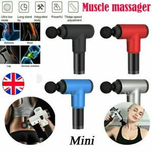 UK Percussion Deep Massage Gun Massager Muscle Vibration Relaxing Therapy Tissue
