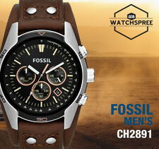 Fossil Coachman Chronograph Men's Brown Leather Watch CH2891