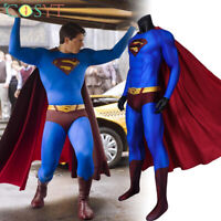 Superman Returns Superman Clark Kent Jumpsuit Cosplay Superman Bodysuit