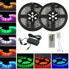 10M RGB 5050 SMD LED Stripe Streifen Lichtband mit IR Controller Netzteil 24V