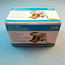 Amaco Craft Clay Roller Maker Machine 9 Settings With Table Clamp New in Box