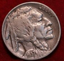 1937-D  Denver Mint Buffalo Nickel with 3 legs