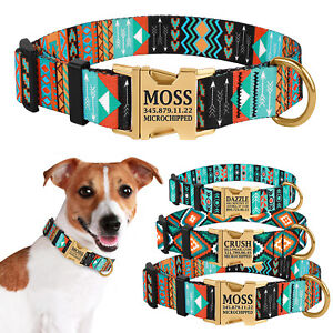 Personalized Dog Collar Custom Engraved Collars for Dogs Side Release Buckle S L