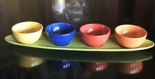 New listing Set 5 Pottery Barn Colorful Serve Ceramic Server Condiment Candy Dip Topping Nut