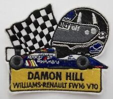 Aufnäher DAMON HILL Williams Renault FW16 V10 F1 Helm Patch Rennanzug Overall