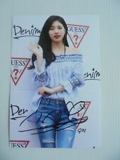 Suzy Bae Miss A 4x6 Photo Korean Actress KPOP autograph signed USA Seller A8