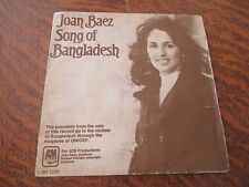 45 tours joan baez song of bangladesh