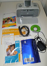 HP Photosmart A612 Compact Mobile Inkjet Printer Color Photo Cords/Manual/Paper