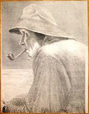 Johann Brockhoff 1871-1942 München / große Lithographie Fischer / Peter von Halm