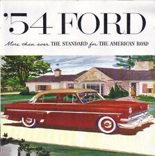 1954 FORD V-8/6  PASSENGER CAR SALES BROCHURE-SLIGHTLY DAMAGED
