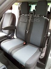 TO FIT A FORD TRANSIT CUSTOM SPORT VAN 2016 SEAT COVERS GREY CLOTH