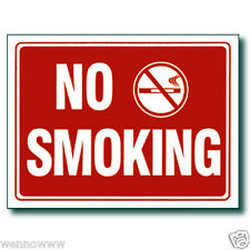 "10 Pcs 9 x 12 Inch Red & White Flexible Plastic "" No Smoking "" Sign"
