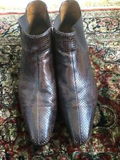 Gucci Mens Snakeskin Boots 11D Rare! $1200!