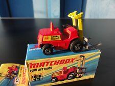 Matchbox Superfast FORK LIFT TRUCK 15 NEUWERTIG