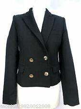 ZARA BLACK WOOL BLEND SHORT BLAZER JACKET SIZE MEDIUM REF 7908 280